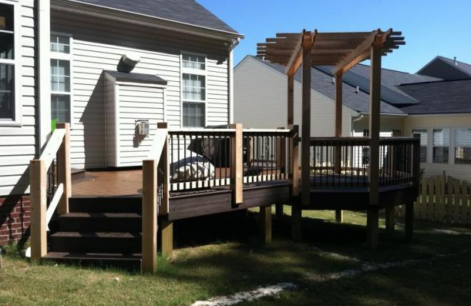 Deck with arbor Greenville SC